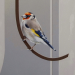 European Goldfinches by Andrew Denman