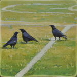 Crows on Ballfield by Andrew Denman