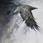 Ravens in Flight by Andrew Denman