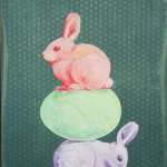 Bunny & Egg Totem by Andrew Denman