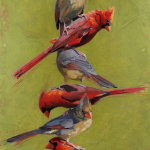 Cardinal Totem by Andrew Denman
