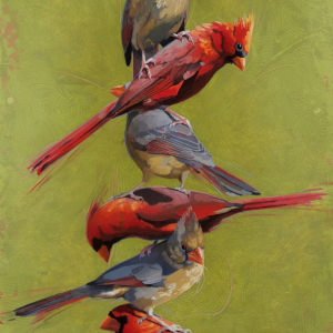 Stacked Cardinals by Andrew Denman