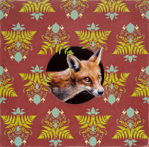 Fox with Pattern by Andrew Denman