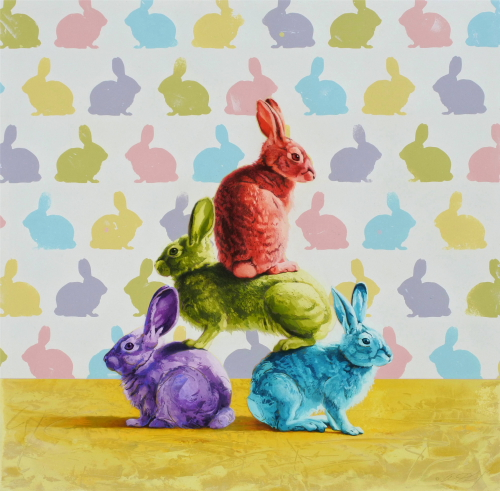 Pyramid of Rabbits by Andrew Denman