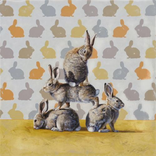 Pyramid of Rabbits by Andrew Denman