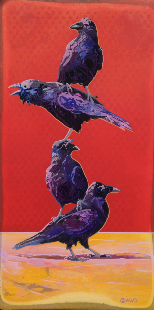 Raven Totem by Andrew Denman