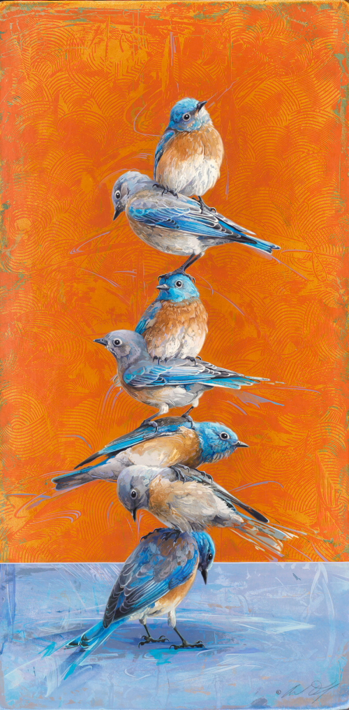 Bluebird Totem by Andrew Denman