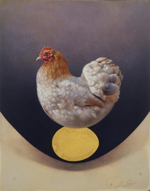 Pekin Hen by Andrew Denman